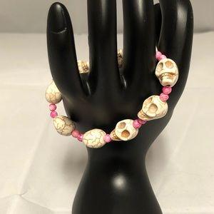 Jewelry - Turquoise Skulls Bead Bracelet
